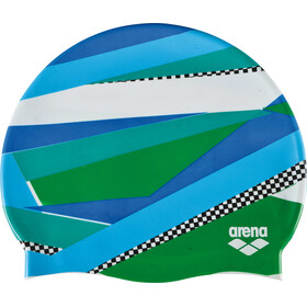 arena Print 2 Swimming Cap stripes green